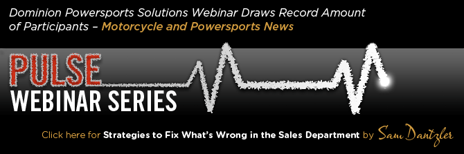 Dominion Powersports Solutions Webinar Draws Record Amount of Participants